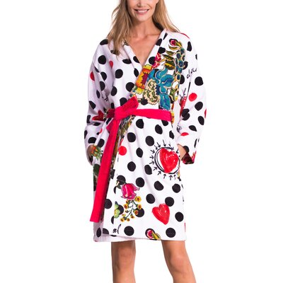 Polka Dot Bathrobe Size: Large