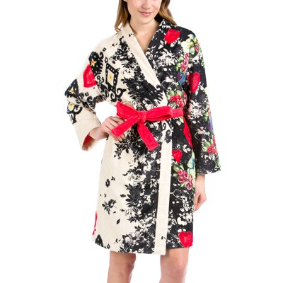 Lovely Garden Bathrobe Size: Medium