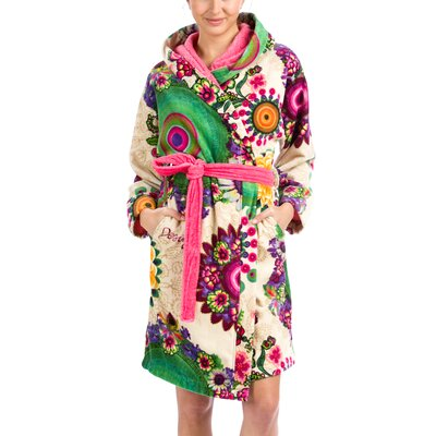 Happy Blossom Bathrobe Size: Large