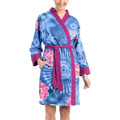 Folk Denim Bathrobe Size: Small