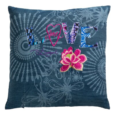 Folk Love Cotton Throw Pillow