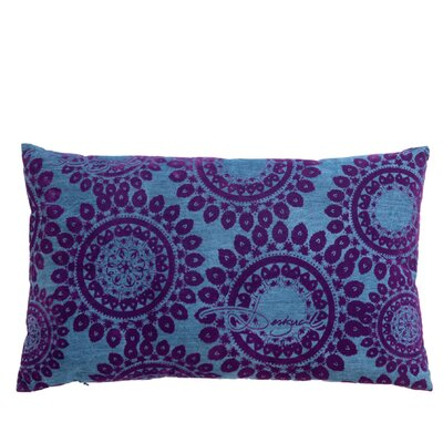 Folk Circles Cotton Lumbar Pillow