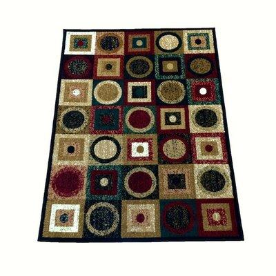 Sevyn Black Area Rug Rug Size: 710 x 910