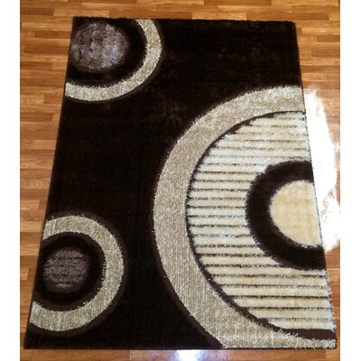 Gloria Brown Area Rug Rug Size: 53 x 75