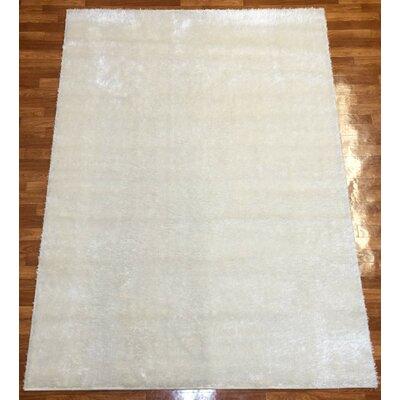 Gloria White Area Rug Rug Size: 53 x 73