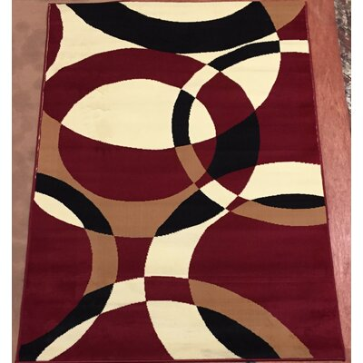 Sevyn Red Area Rug Rug Size: 710 x 910