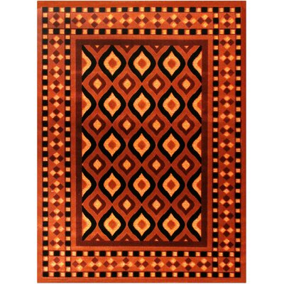 Shonil Orange Area Rug Rug Size: 53 x 75