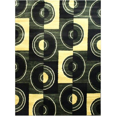 Super Mega Green Area Rug Rug Size: 53 x 75