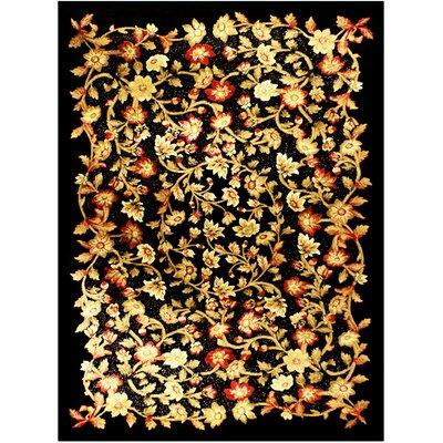 Shonil Black Area Rug Rug Size: 53 x 75