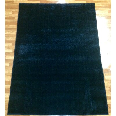 Gloria Black Area Rug Rug Size: 53 x 73