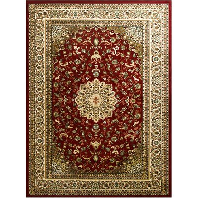 Super Belkis Red Area Rug Rug Size: 3'11