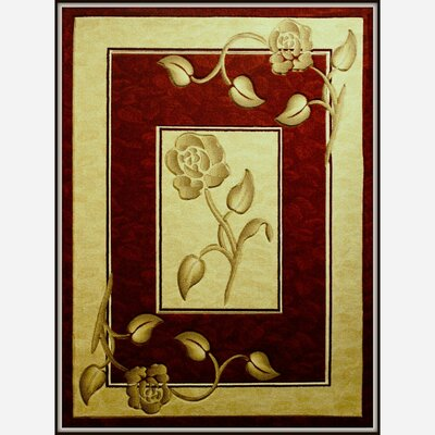 Rosa Red Area Rug Rug Size: 710 x 102