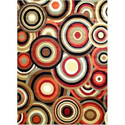 Super Mega Red Area Rug Rug Size: 53 x 73