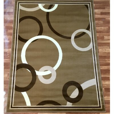 Elif/Passion Cream Area Rug Rug Size: 53 x 73