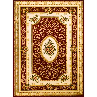 Super Belkis Red Area Rug Rug Size: 53 x 75