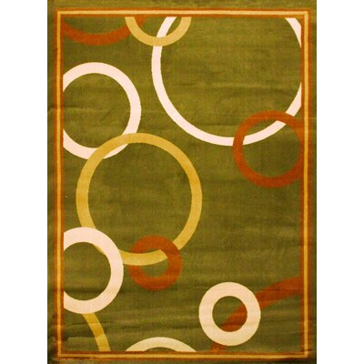 Elif/Passion Green Area Rug Rug Size: 53 x 75