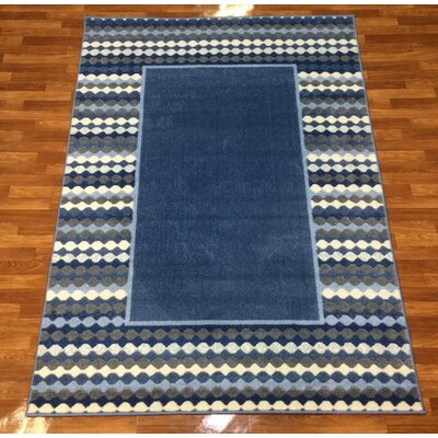 Istanbul Blue Area Rug Rug Size: 53 x 75
