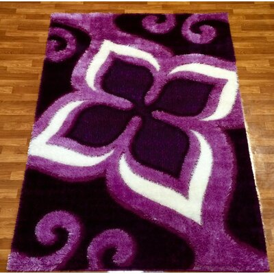 Gloria Purple Area Rug Rug Size: 710 x 102