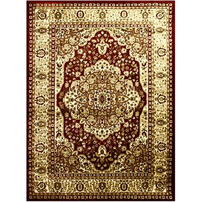 Super Mega Red Area Rug Rug Size: 53 x 75