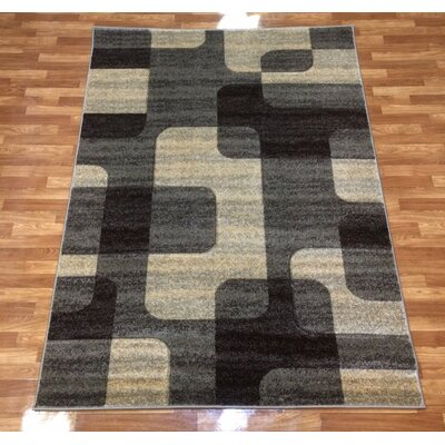 Istanbul Brown Area Rug Rug Size: 53 x 73