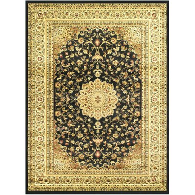 Super Belkis Black Area Rug Rug Size: 710 x 102