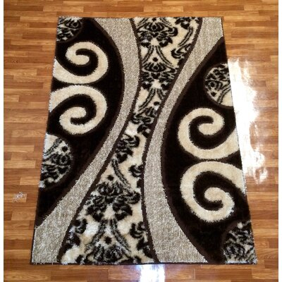 Gloria Brown Area Rug Rug Size: 28 x 77