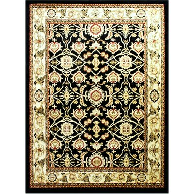 Super Mega Black Area Rug Rug Size: 53 x 75