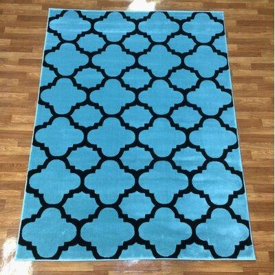 Liza Blue Area Rug Rug Size: 7'10
