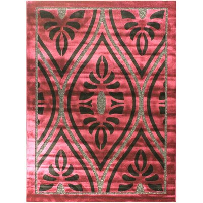 Shonil Purple Area Rug Rug Size: 53 x 75
