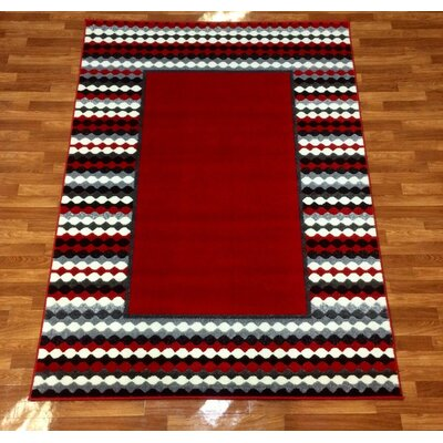 Istanbul Red Area Rug Rug Size: 53 x 73