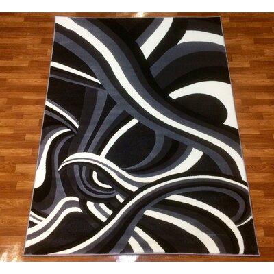 Crystal Gray Area Rug Rug Size: 53 x 75