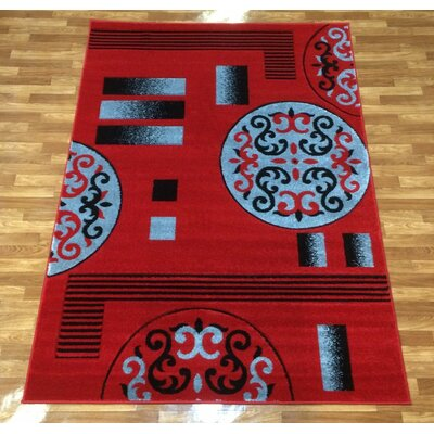 Istanbul Red Area Rug Rug Size: 710 x 102