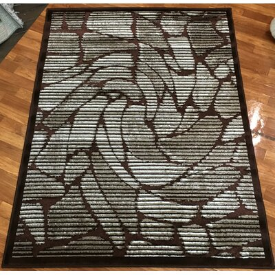 Crystal Brown Area Rug Rug Size: 710 x 102