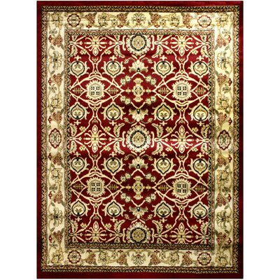 Super Mega Red Area Rug Rug Size: 710 x 910