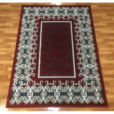 Crystal Red Area Rug Rug Size: 53 x 75