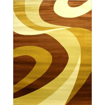 Super Mega Beige/Brown Area Rug Rug Size: 53 x 73