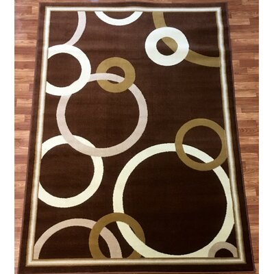 Elif/Passion Brown Area Rug Rug Size: 53 x 73