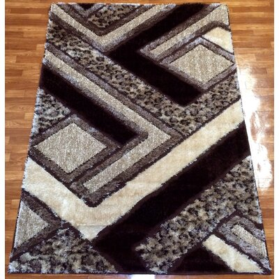 Gloria Brown Area Rug Rug Size: 53 x 73