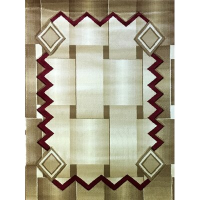 Labella Red Area Rug Rug Size: 53 x 75