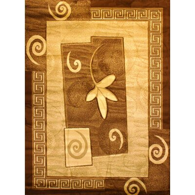 Labella Gold Area Rug Rug Size: 53 x 75