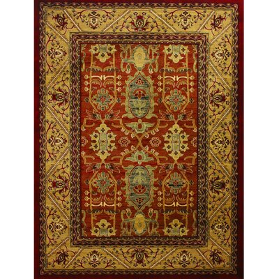 Super Belkis Red Area Rug Rug Size: 311 x 53