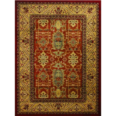 Super Belkis Red Area Rug Rug Size: 7'10