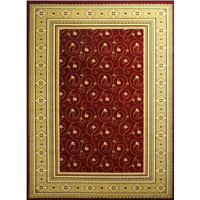 Super Belkis Red Area Rug Rug Size: 5'3
