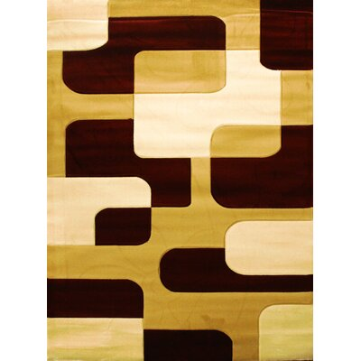 Labella Brown Area Rug Rug Size: 53 x 75