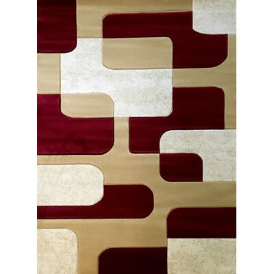 Labella Red Area Rug Rug Size: 710 x 102