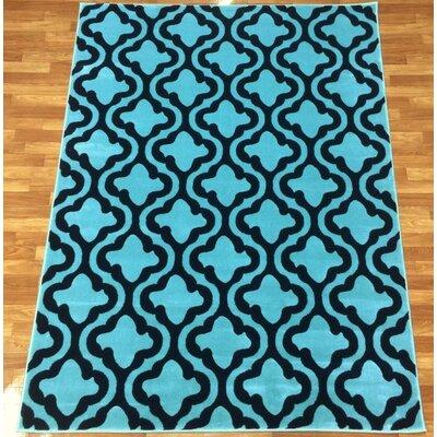 Liza Blue Area Rug Rug Size: 53 x 73