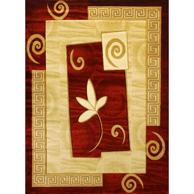 Rosa Red Area Rug Rug Size: 311 x 53