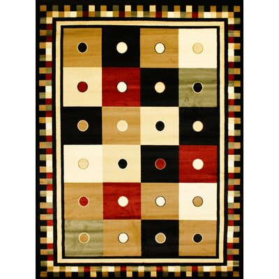Super Belkis Black Area Rug Rug Size: 311 x 53