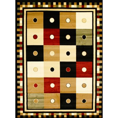 Super Belkis Black Area Rug Rug Size: 53 x 75