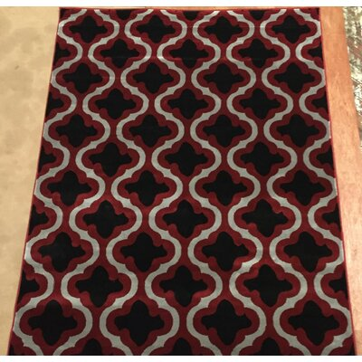 Liza Red Area Rug Rug Size: 53 x 73